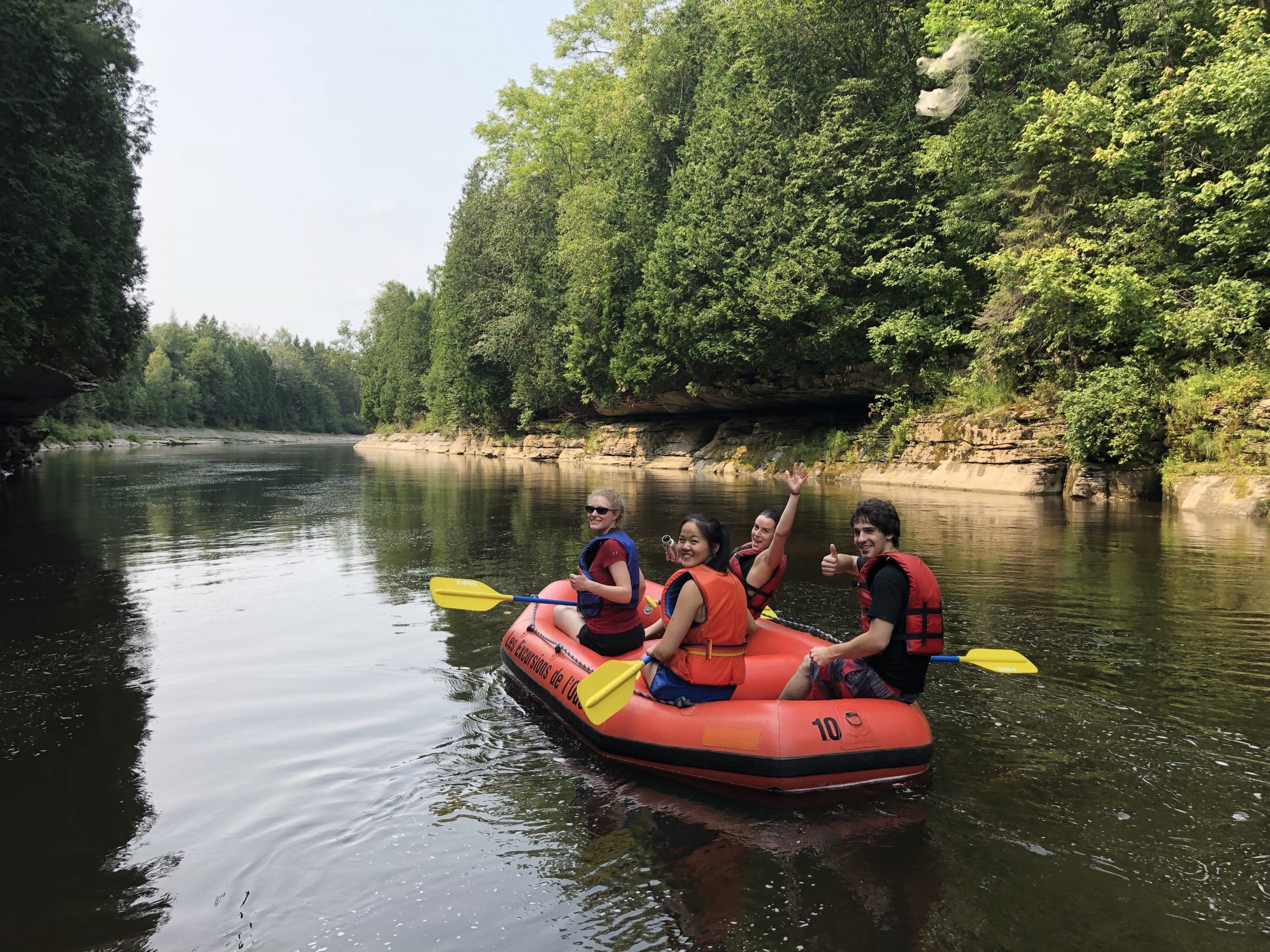 Rafting with interns: thank you