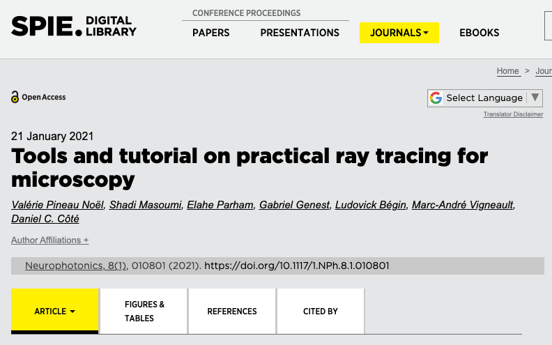 Our raytracing tutorial article is published!